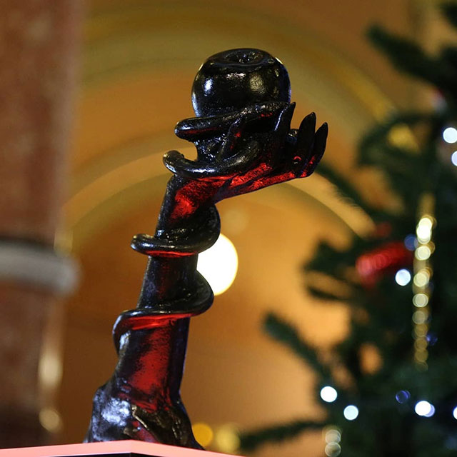 Satanic Snaketivity on display in the Illinois State Capitol for Christmas
