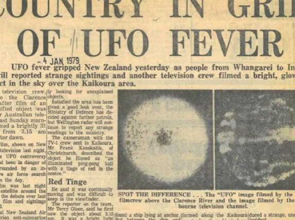 How the 40-year-old mystery of a UFO in New Zealand lives on 128
