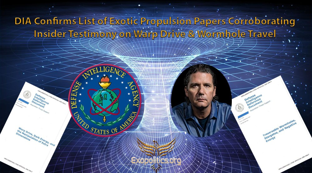 DIA Confirms List of Exotic Propulsion Papers Corroborating Insider Testimony on Warp Drive & Wormhole Travel 86