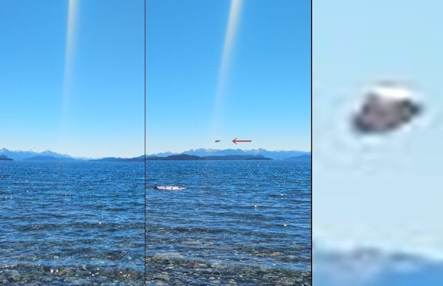 Strange Light Beam and UFO Appear over Bariloche, Argentina 1