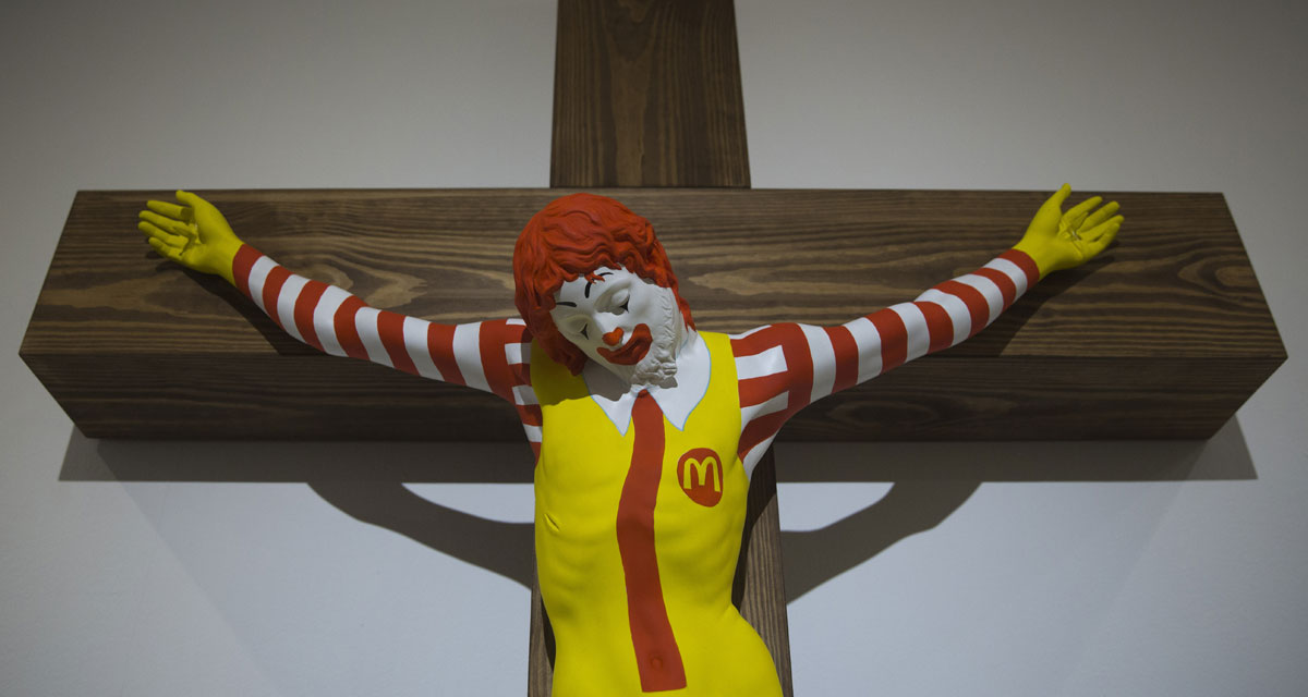 McJesus Sculpture Sparks Outrage and Protests in Israel 1