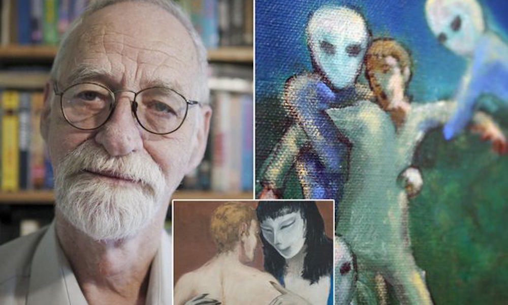 74 Year Old Describes & Paints His Encounters With Extraterrestirals Since Childhood 10