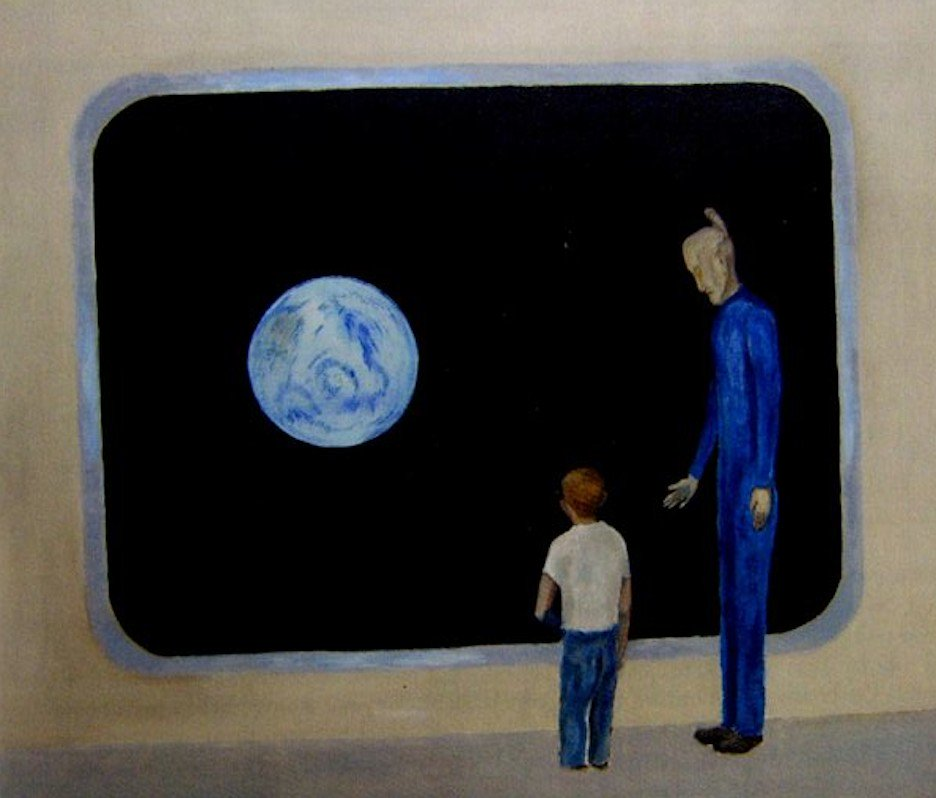 74 Year Old Describes & Paints His Encounters With Extraterrestirals Since Childhood 98