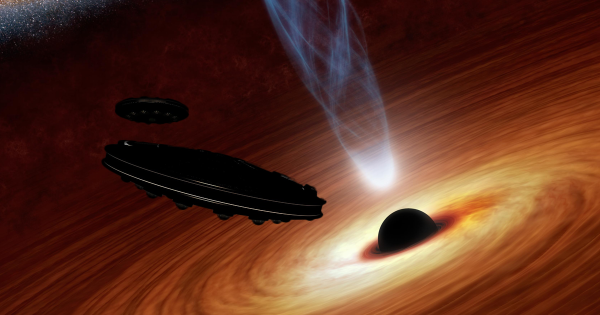 Detect Alien Starships Powered by Black Holes 1