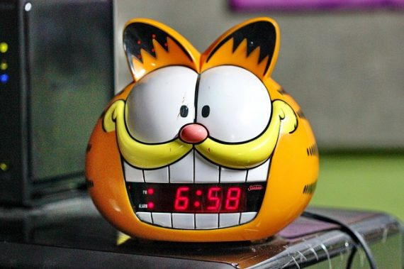 Garfield clock.