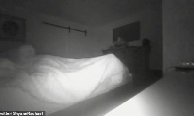 """It sits on my bed"": a man filmed a paranormal phenomenon in his bedroom 91"