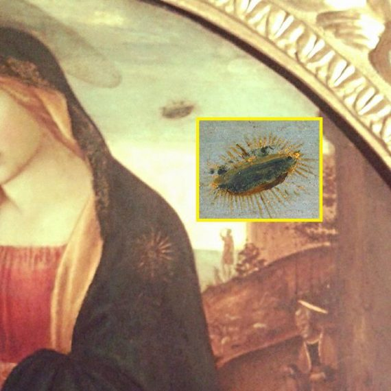 """Arizona UFO with """"Appendages"""" Looks Like """"Madonna of the UFO"""" Painting 7"""