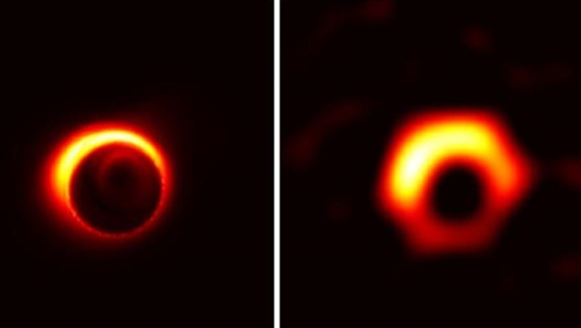 The first ever photograph of black hole captured. 1