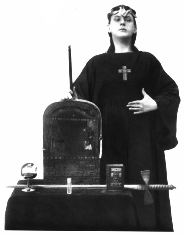 Aleister Crowley in ceremonial dress