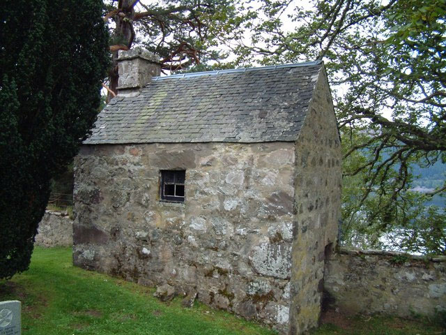 Mortuary house in the Boleskine cemetery