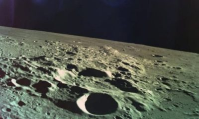 This is the last image Israel's lunar lander took before it crashed into the moon 87