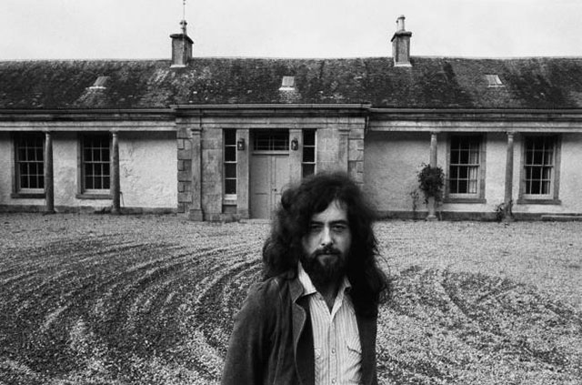 Jimmy Page at Boleskine House in 1973