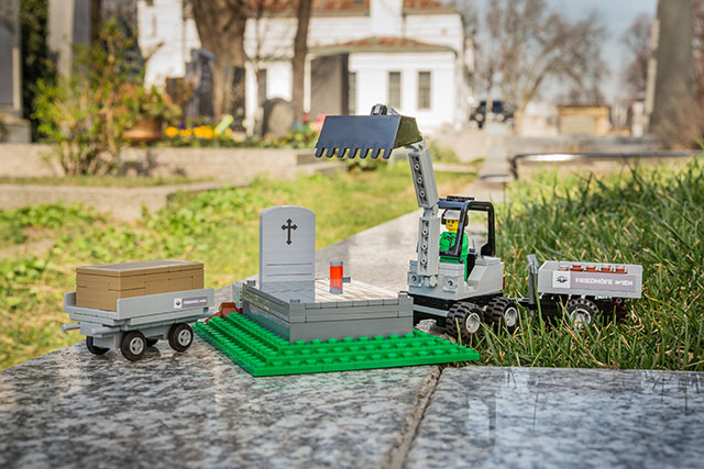Lego graveyard