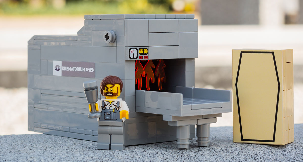 Vienna Cemetery Introduces Funeral LEGO Sets 86