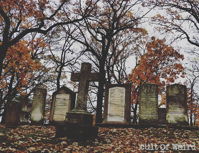 Final resting place of spiritualist Nathaniel Tallmadge and his family in Reinzi Cemetery