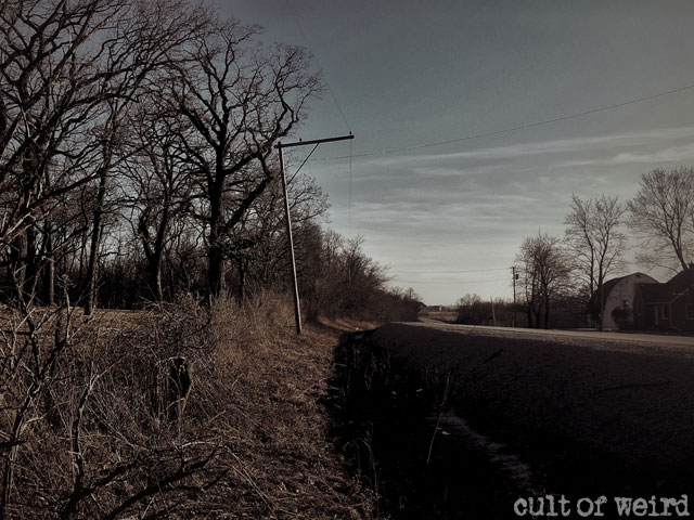 Hwy K in front of the abandoned Witherell House
