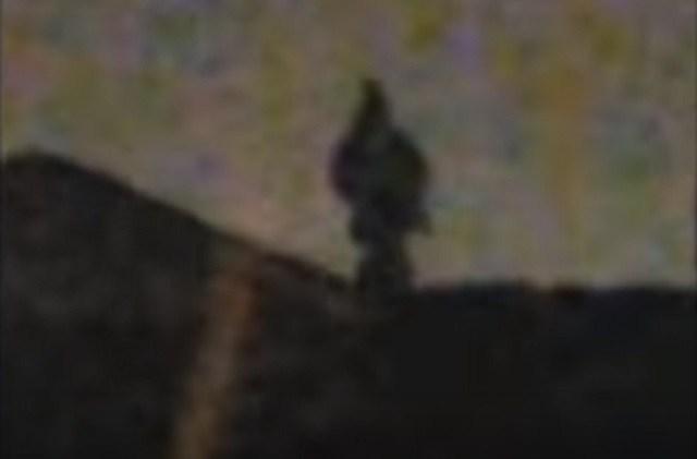 Descending Dark Humanoid Figure Filmed In California 21