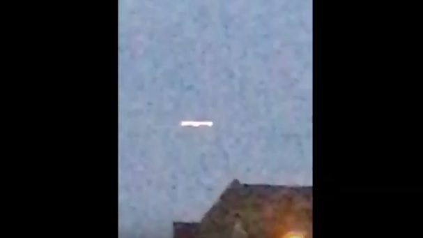 Cigar-Shaped UFO Recorded over The Netherlands Changes into Two Orbs 18