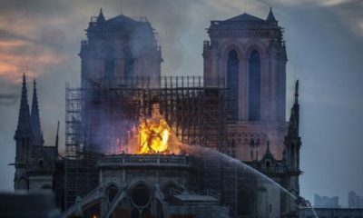 Image of Jesus Seen in Flames Engulfing Notre Dame Cathedral 99
