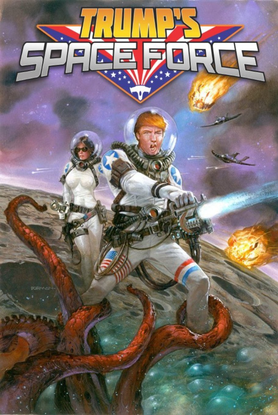 Antarctic Press to Publish Trump's Space Force! 8