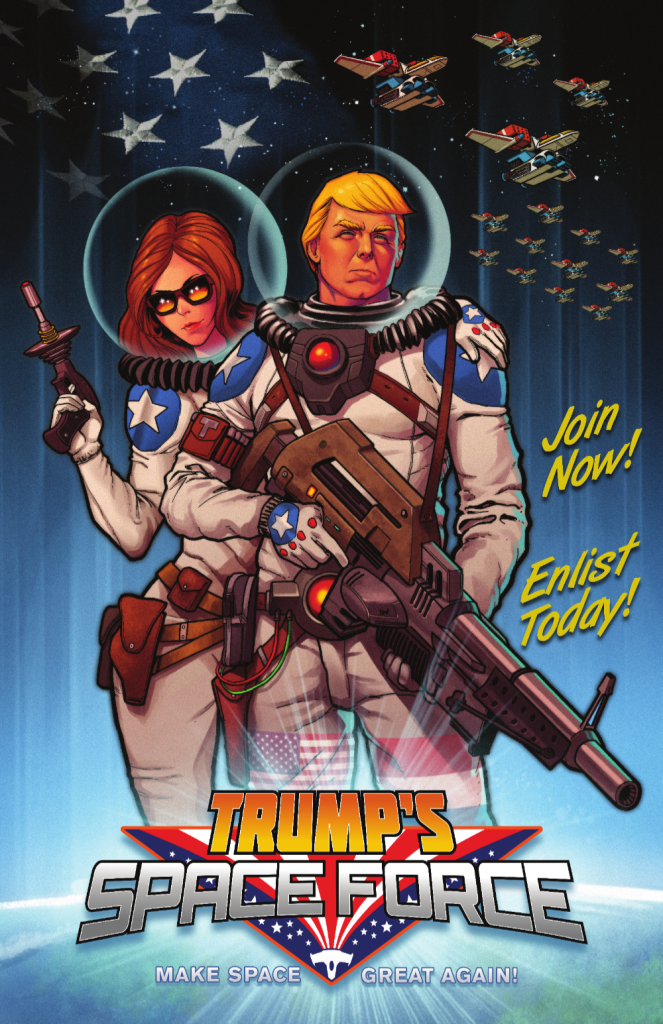 Antarctic Press to Publish Trump's Space Force! 10