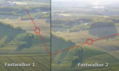Two UFO Fastwalkers Recorded Passing Each Other at the Same Point over Bavaria, Germany 87