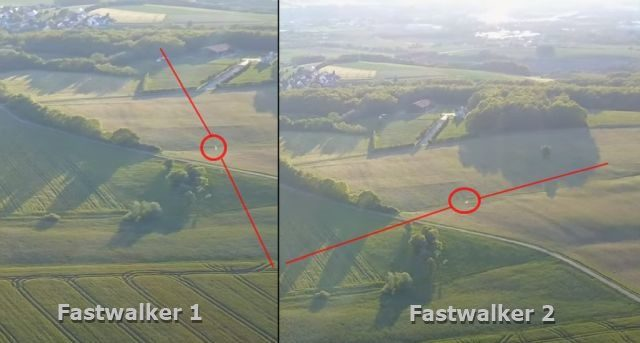 Two UFO Fastwalkers Recorded Passing Each Other at the Same Point over Bavaria, Germany 86