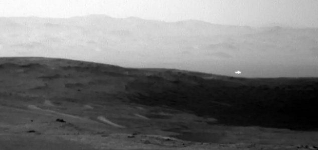 Mysterious Light Seen in Mars Photograph 1