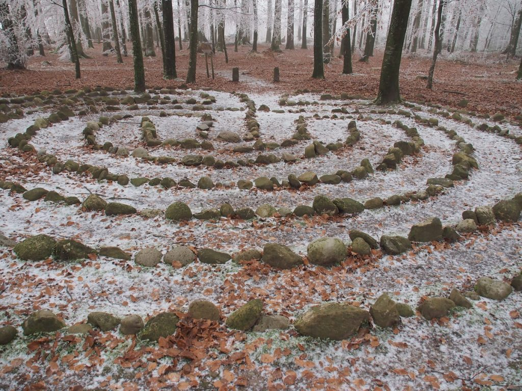 Labyrinth. Ancient Symbol Of Spiritual Development
