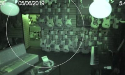 Guitar store CCTV captures ghostly activity 96