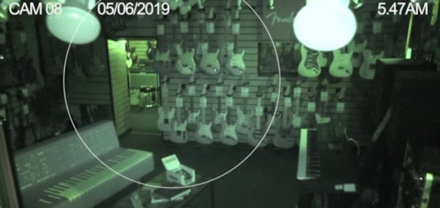 Guitar store CCTV captures ghostly activity 42