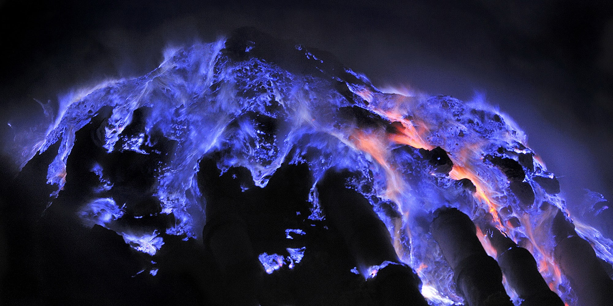 Spectacular blue lava flows at this Indonesian volcano 98