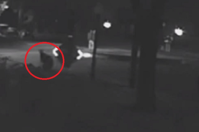 Bizarre CCTV Footage Of A Human Like Figure