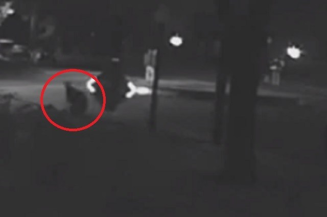 CCTV Footage Captures Mysterious Humanoid Figure Materializing At Night 24