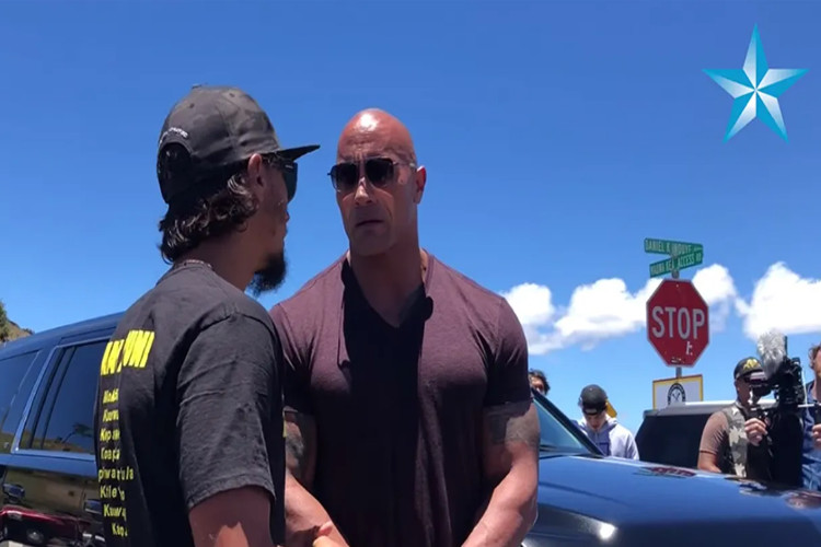 Dwayne 'The Rock' Johnson Visits Mauna Kea Protests to Lend Support 1