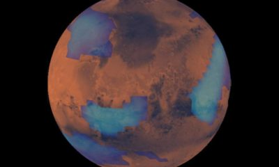 NASA records a strange formation of clouds on Mars 110