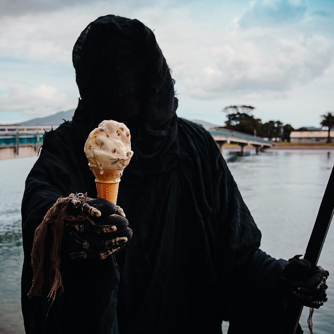 Death shares his ice cream