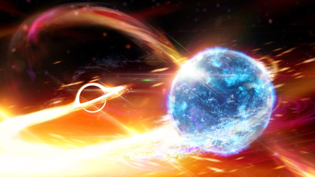 Black hole gobbles up neutron star, causing ripples in space and time 16