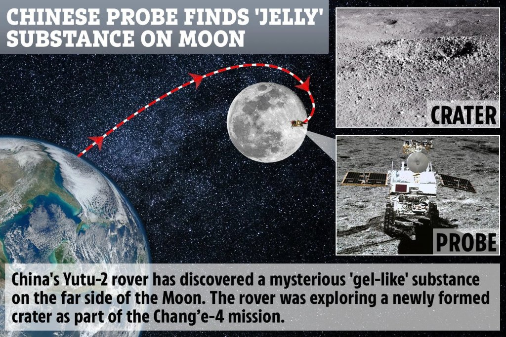 The Chinese lunar rover finds a strange substance in the moon's hidden face 12