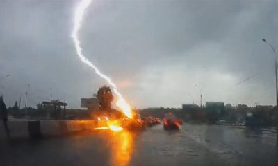 Lighting Hits Car Twice in Novosibirsk, Siberia 87