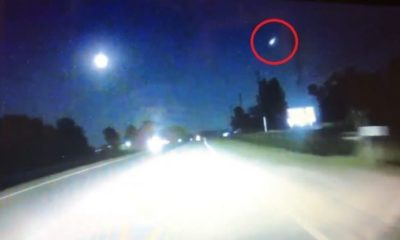 Meteor Fireball Streaking Across the North Carolina Sky Captured by Dashcam 91