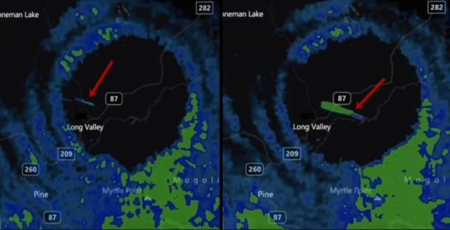 Fast Moving Anomaly Enters 'Vortex/Portal' Which Appeared In The Sky Over During Storm 1