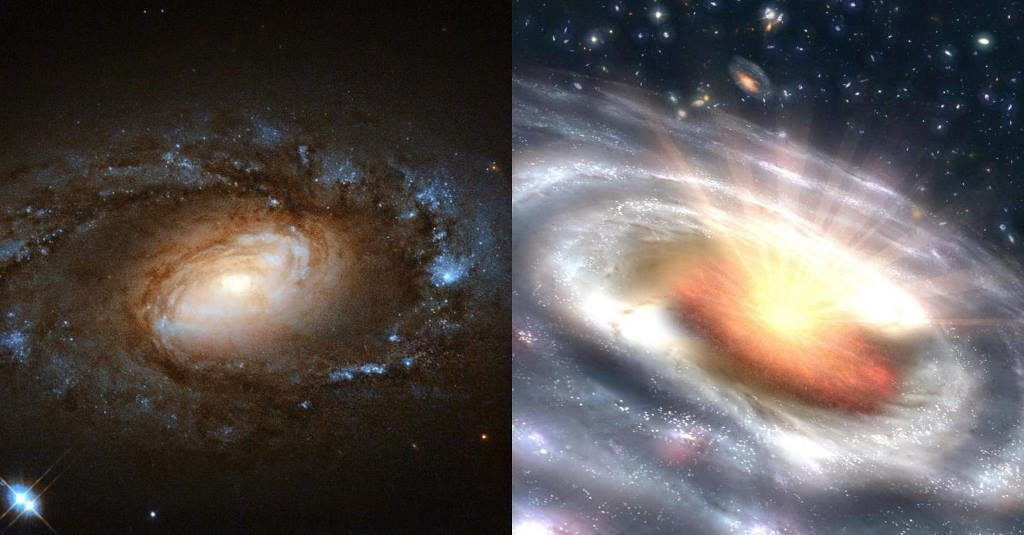Study Reveals Six Galaxies Undergoing Sudden, Dramatic Transitions 1