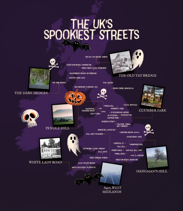 The UK'S 'Spookiest Streets' revealed in the run up to Halloween 12