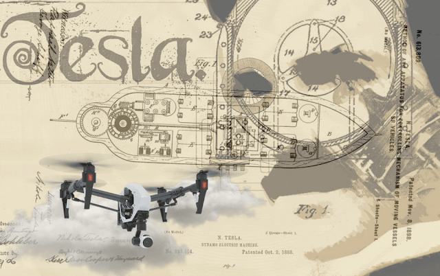 Nikola Tesla patented a Drone