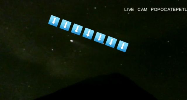 UFO Picked up on Popocatépetl Volcano 24 Hour Live Cam 23
