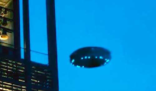 UFO in the sky of the Earth