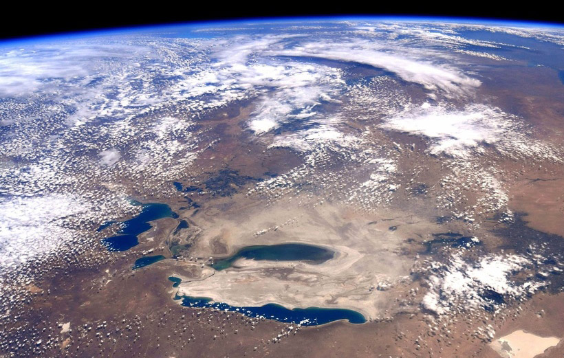 Aral Sea from space