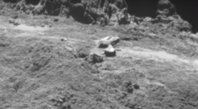 """COMET 67P, the """"Transmission of Extraterrestrial Sounds"""" comes from an unknown base visible on the Comet 103"""