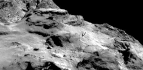 """COMET 67P, the """"Transmission of Extraterrestrial Sounds"""" comes from an unknown base visible on the Comet 102"""